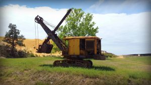 Milton Williams' first piece of heavy mining machinery: 1947 Lorain dragline shovel.